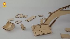 фото Дерев'яний 3Д конструктор 'Екскаватор' (96285) #8