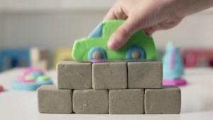 фото Набор для творчества 'Wacky-Tivities' Kinetic Sand Construction Zone (голубой, формочки, 283 г.) #8