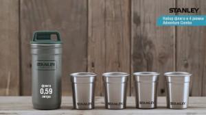 фото Набор туристической посуды Stanley фляга и 4 рюмки Adventure Combo, зеленый (4823082714711) #4